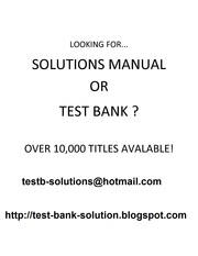 test bank & solutions manual