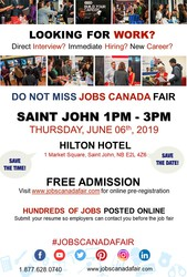 Saint John Job Fair - June 06th,  2019