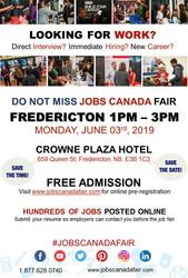 Fredericton job Fair - June 03rd,  2019